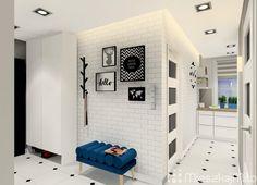Mieszkanie w bloku z wielkiej płyty 62m² – Sosnowiec Living Room Kitchen, Entryway, Corridor, Furniture, Flat, Home Decor, House, Entrance, Bass