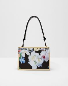 Forget Me Not leather tote bag - Black | Bags | Ted Baker UK