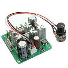 2pcs pulso 15a 6v-90v control de ancho de regulador de velocidad del motor dc pwm