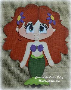 Disney Princess Ariel Premade Scrapbooking Embellishment Paper Piecing