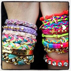 I think it's soo cute stacking all these bracelets