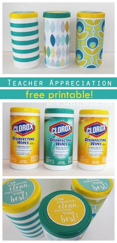 Teacher appreciation free printable gift for wipes!: