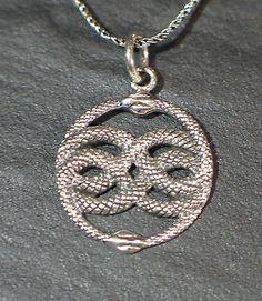 Anhänger Silber Auryn Symbol für Unendlichkeit Amulett unendliche Geschichte