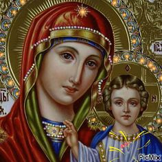 An animated gif. Make your own gifs with our Animated Gif Maker. Religious Photos, Religious Icons, Blessed Mother Mary, Blessed Virgin Mary, Divine Mercy Prayer, Virgin Mary Art, Hail Holy Queen, Christian Images, Mama Mary