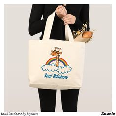 Soul Rainbow Large Tote Bag. Producto disponible en tienda Zazzle. Accesorios, moda. Product available in Zazzle store. Fashion Accessories. Regalos, Gifts. #bolso #bag