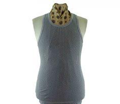 70s grey vest
