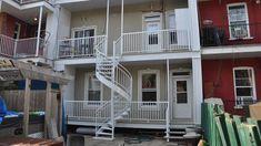 Remplacement de balcon en fibre de verre - Photo-13 Construction, Stairs, Home Decor, Balconies, Building, Stairway, Decoration Home, Staircases, Room Decor