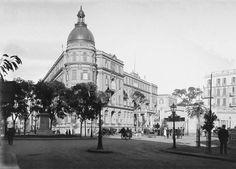 لقطة من فندق سافوي الفاخر في ساحة سليمان باشا - القاهرة 1910