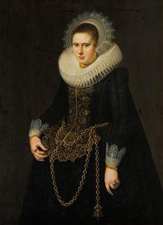 Cornelis van der Voort (About - Portrait of a Woman, 1622 Henrietta Maria, 17th Century Clothing, Toledo Museum Of Art, Ruff Collar, Dutch Golden Age, Oil Portrait, Historical Clothing, Renaissance Clothing, White Caps