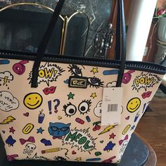 Betsey Johnson Tote never full multi color Betsey Johnson Bags Totes