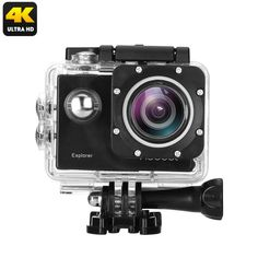 MGCOOL Explorer 4K Action Camera - 170 Degree Lens, 2 Inch Screen, WiFi, 64GB SD Card Slot, App Support, 1050mAh, IP68 CaseKey Features...  4K action camera shoots breathtaking video and photographs with stunning beautyWiFi connectivity and App support  ...