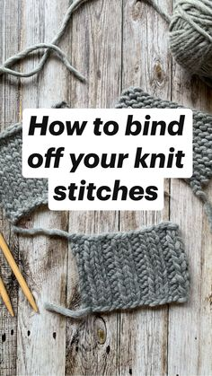 Beginner Knitting Patterns, Knitting Basics, Sweater Knitting Patterns, Knitting For Beginners, Knit Patterns, Stitch Patterns, Amigurumi Patterns, Bind Off Knitting, Knitting Stitches