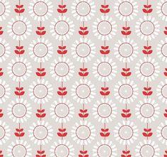 75cm x 110cm Reststoff Riley Blake Twice as Nice Baumwollstoff Blumen Blüten