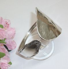 Antikes Besteckschmuck-Armband Silberreif AB133 von Atelier Regina auf DaWanda.com