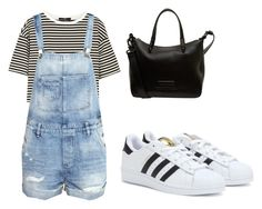 """""""Denim Overall"""" by tania-alves ❤ liked on Polyvore featuring TIBI, H&M, adidas and Marc by Marc Jacobs"""