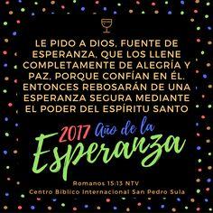 Rebosaremos de una esperanza segura!!!  Centro Bíblico Internacional San Pedro Sula