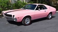 Playboy Pink! 1969 American Motors AMX 390 Color Code 00