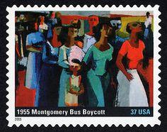 37c US Postage stamp - 1955 Montgomery Bus Boycott - issued 2005