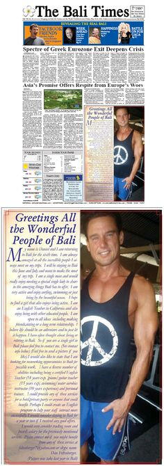Pure hilarity: Californian man takes out quarter page ad about himself on the front page of the Bali Times