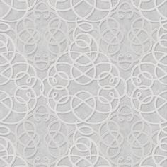 Ribbon Dance Silver Wallpaper by Graham and Brown