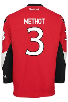 Ottawa Senators Marc METHOT #3 Official Home Reebok Premier Replica NHL Hockey Jersey (HAND SEWN CUSTOMIZATION)