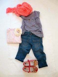 outfit for kids MAYORAL JEANS and FLOWERS EVERYWHERE on www.fiammisday.com