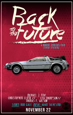 Back to the future Poster on Behance