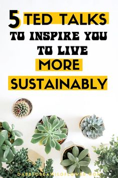 Looking for a good TED Talk about sustainable living? Put on your eco- warrior crown and check out these 5 remarkable TED talks to inspire zero waste, minimalism, eco-living, and action for the planet. Ted Talks, Zero Waste, Sustainable Living, Sustainable Ideas, Sustainable Fashion, Eco Friendly House, Green Life, Natural Living, Sustainability