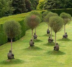 Cool landscape design - statue at Yorkshire Sculpure Park