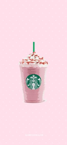 Iphone Wallpaper Vsco, Iphone Background Wallpaper, Aesthetic Iphone Wallpaper, Iphone Wallpapers, Cute Cartoon Wallpapers, Pretty Wallpapers, Starbucks Wallpaper, Pink Wallpaper Girly, Starbucks Art