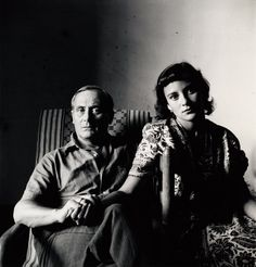 Miró and His Daughter, Dolores , Tarragona, Spain, 1948 Gelatin silver print © The Irving Penn Foundation