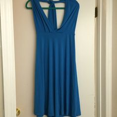 Blue halter dress Never worn and in great condition. If you have any questions feel free to ask :) Avon Dresses