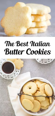 A buttery simple Italian Cookie. This is the easiest butter cookie recipe! Serve this easy cookie recipe as a holiday cookie or with tea or coffee in the afternoon. Try making these easy Italian Butter Cookies for afternoon tea, or anytime! #buttercookies #cookies Italian Christmas Cookie Recipes, Butter Cookies Christmas, Best Holiday Cookies, Italian Cookie Recipes, Holiday Cookie Recipes, Easy Cookie Recipes, Holiday Baking, Italian Foods, Cookies