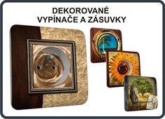 Designové zásuvky s dekorací, dekorativní vypínače, luxusní vypínače s obrázky, designové vypínače a zásuvky s aplikacemi
