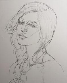 OliverSin (@oliversin) • Fotos y videos de Instagram Portrait Sketches, Portrait Art, Art Sketches, Cool Drawings, Pencil Drawings, Art Tumblr, Watercolor Flower, Art Simple, Drawing Studies