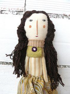 Muñeca Renata de algodón / 52 cm / de AntonAntonThings en Etsy
