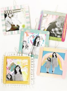 Photo Collage: abstract painted background, cut out b/w copy of photo, decorated popsicle stick frame Mothers Day Crafts For Kids, Holiday Crafts For Kids, Fathers Day Crafts, Gifts For Kids, Creative Activities For Kids, Projects For Kids, Art Projects, Preschool Activities, Project Ideas