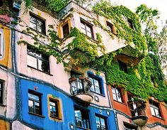 Hundertwasser Apartment House, Vienna.