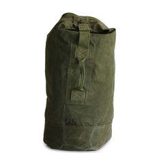U.S. ARMY Green Duffel Bag, Estimated 50's Era