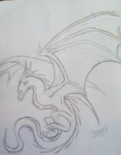 Old Dragon Drawings - For more like this find mockiejay My art And Drawings board Fantasy Drawings, Art Drawings Sketches, Cool Drawings, Cool Dragon Drawings, Old Dragon, Dragon Art, Drawing Base, Painting & Drawing, Bone Drawing