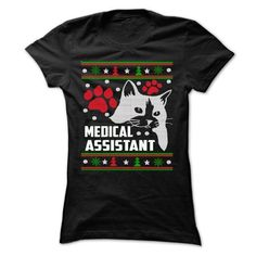 MEDICAL ASSISTANT LOVE CAT - XMAS GIFT - #trendy tee #sweatshirt women. LIMITED AVAILABILITY => https://www.sunfrog.com/Funny/MEDICAL-ASSISTANT-LOVE-CAT--XMAS-GIFT-Ladies.html?68278