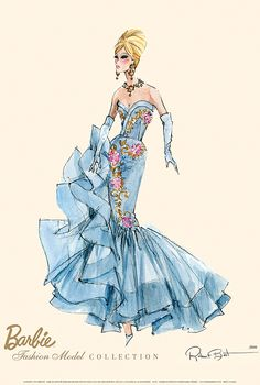 Looking for the Tribute Barbie Doll? Immerse yourself in Barbie history by visiting the official Barbie Signature Gallery today! Barbie Style, Fashion Dolls, Fashion Art, Fashion Design, Dress Fashion, Vestidos Vintage, Vintage Dresses, Mode Hollywood, Barbie Silkstone