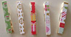 DIY Modge Podge Christmas clothes pins - www.creativity52.com