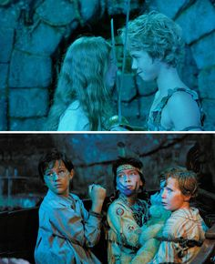"Peter Pan (2003) Starring: Rachel Hurd-Wood as Wendy Darling, Jeremy Sumpter as Peter Pan, Harry Newell as John Darling, Carsen Gray as Tiger Lily and Freddie Popplewell as Michael Darling. - John: ""Sirs! My brother and I are English gentlemen. English gentlemen do not beg!"" / Michael: ""Please. Please, don't kill me!"" / John: ""Please, don't kill me either!"""