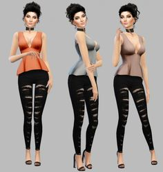 Clarice Top at Simply Simming Sims 4 Cas, Sims 4 Update, Ts4 Cc, Art Girl, Cute Girls, Sporty, Female, Pants, Clothes