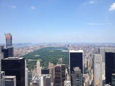 Central park from the rockfeller center
