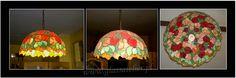 www.polandhandmade.pl , lampa wisząca róze ,