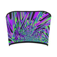 Purple Rave Fractal Bandeau Top | EDM Festival Fashion | BigTexFunkadelic    #BigTexfunkadelic #edc #edm #ravewear #bandeautop #kaleidoscope #neon #style #summer Edm Festival, Festival Fashion, Neon Style, Bandeau Tops, Rave Wear, Style Summer, Fractals, Edc, Design Inspiration