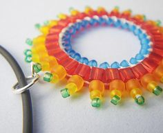 Sweet candy colors! My love of small beaded circles continues.