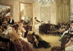 James Jacques Joseph Tissot (1836-1903) — Hush! 1875 : Manchester Art Gallery, Manchester.  England  (1280×910)
